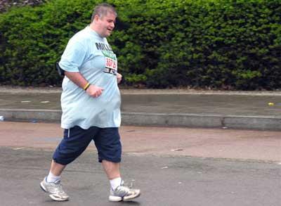 бег сжигает жир