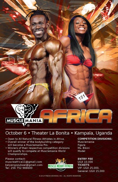 Шоу Muscle Mania теперь и в Африке