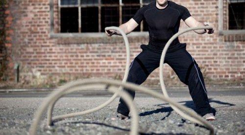 Сделай работу с канатом частью тренировки