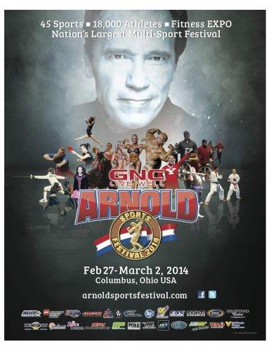 Расписание 1-го мероприятий Arnold Sports Festival 2014