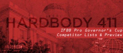 Анонс и список участников 2014 IFBB Governors Cup