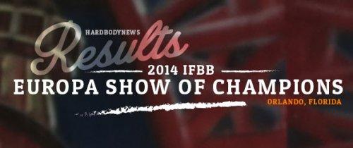 Результаты 2014 IFBB Europa Show of Champions