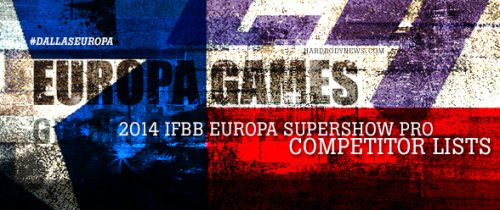 Список участников 2014 IFBB Europa Supershow Pro