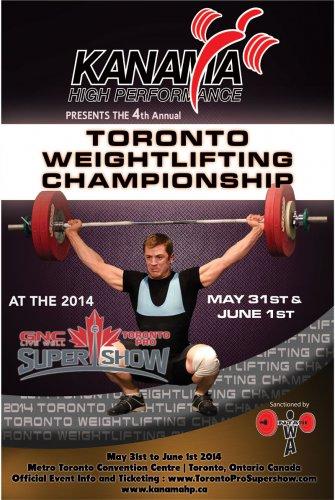 Дата проведения Toronto Weightlifting Championships 2014