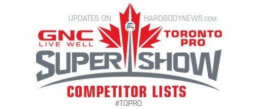 Точный список участников 2014 IFBB Toronto Pro