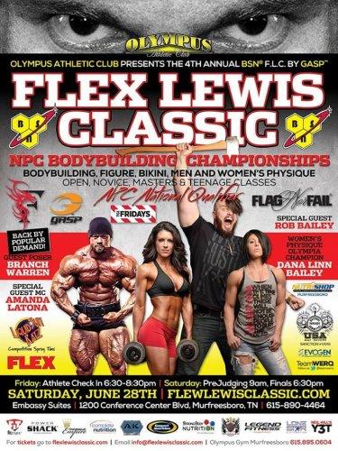 Анонс и детали проведения Flex Lewis Classic-2014