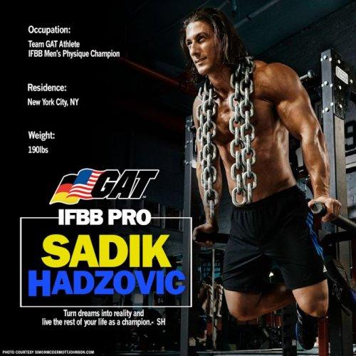 GAT подписывает контракт с IFBB Садиком Хадзовичем