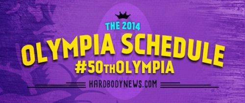 Расписание мероприятий 2014 Olympia