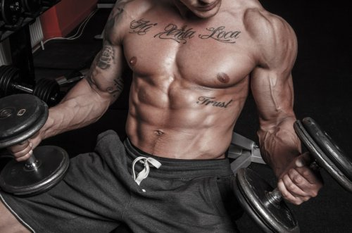 Татуировка и занятия бодибилдингом от tattookiev.com